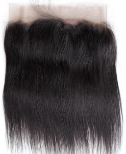 Natural Straight 360 Lace Frontal Outside